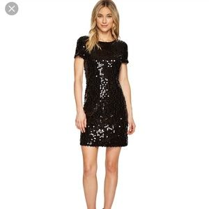 Calvin Klein Sequin Short Sleeve Dress
